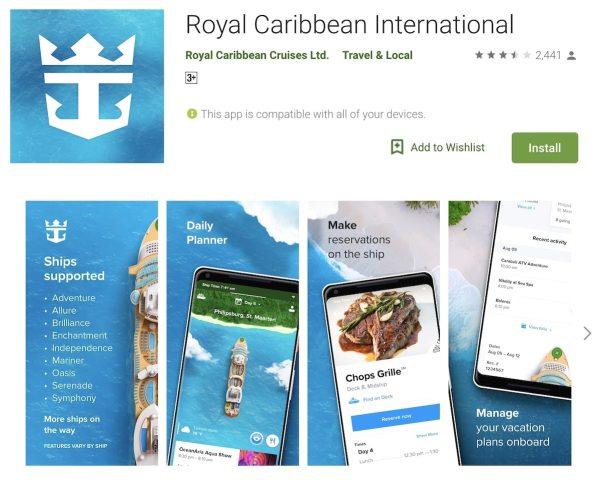 Royal Caribbean International App