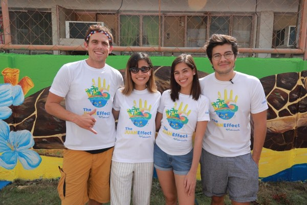 """Juan Effect"" advocates Erwan Heussaff, Jasmine Curtis- Smith, and Kyle ""Kulas"" Jennerman with Anina Rubio"