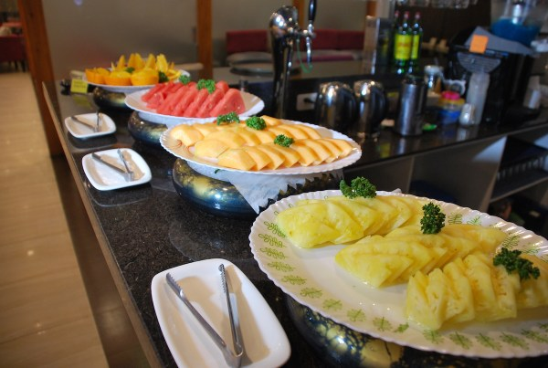 Fruits of the season adorn the buffet spread this Season of Love.