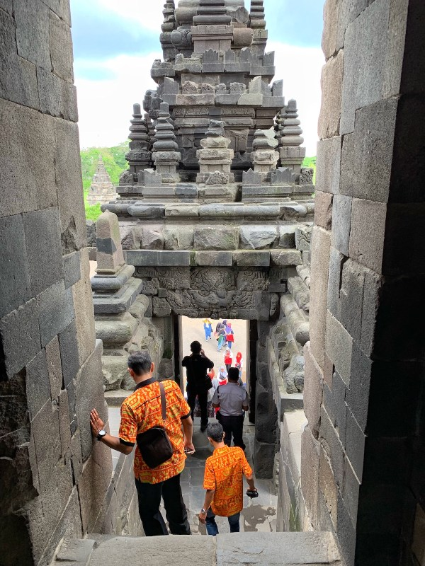 Inside a temple in Prambanan