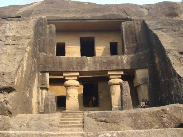 Kanheri Caves photo via Wikipedia
