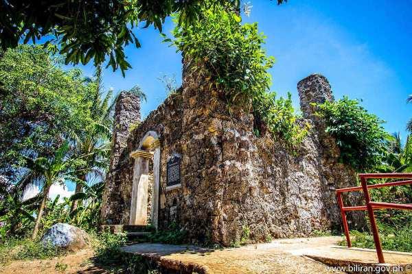 Nasunugan Watch Tower Ruins photo via Biliran.gov.ph