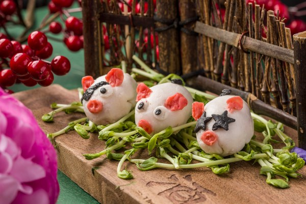 Piglet Shape Squid Balls for Year of the Pig