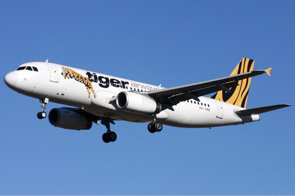 Tiger Airways photo via Wikipedia CC