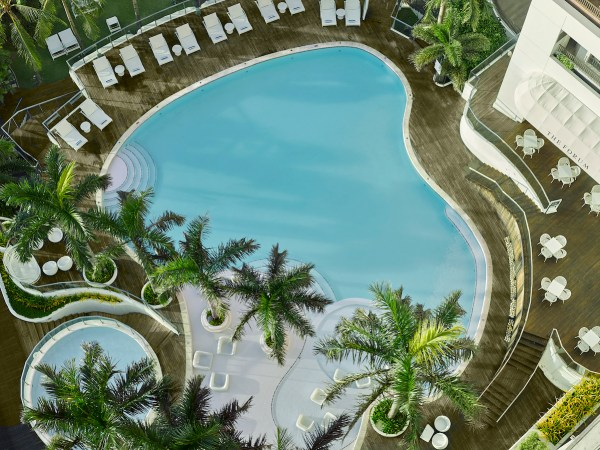 a view of Movenpick Hotel Mactan Island Cebu's swimming pool