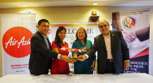 AirAsia inks partnership with Federation of Indian Chamber of Commerce in the Philippines