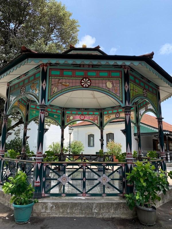 Gazebo inside Palace of Yogyakarta