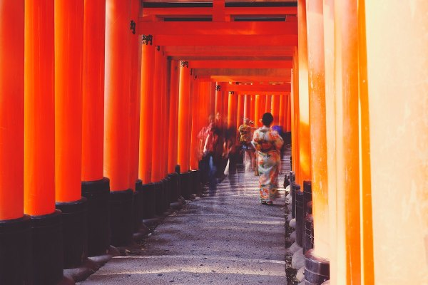 Most visited tourist spot in Kyoto by Joe Green via Unsplash
