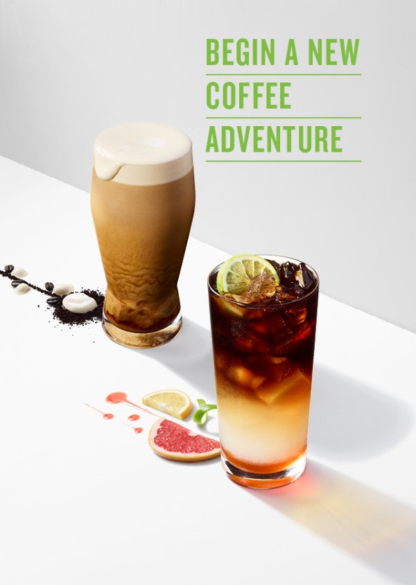 New Cold Craft Coffee Beverages