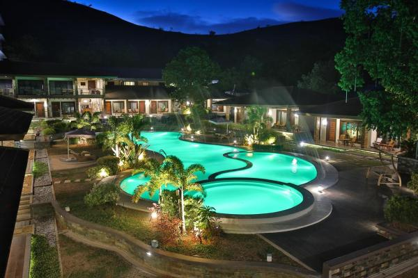 Pool at Night - Coron Soleil Garden