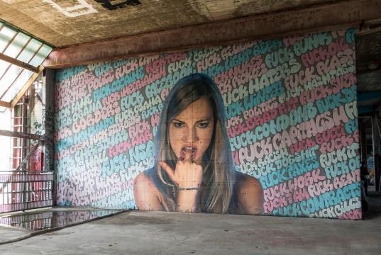 amazing graffiti at Teufelsberg