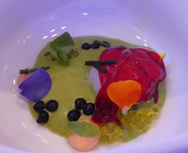 A most colorful Chef Edu Quintana soup course