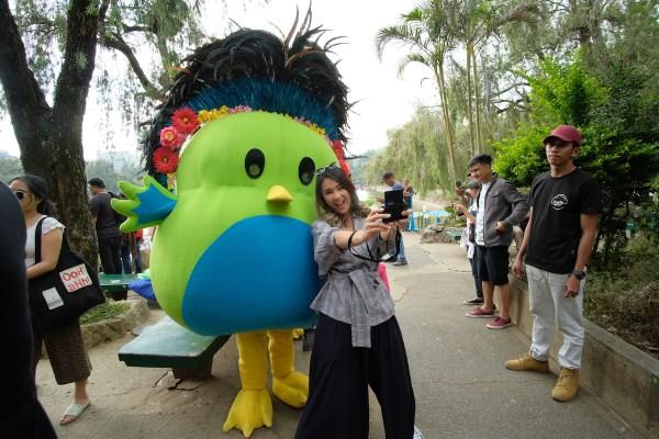Akiko Centeno with PayMaya Mascot