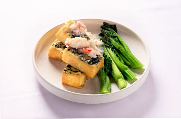 Crispy Diced Bean Curd with Fresh Crab Meat