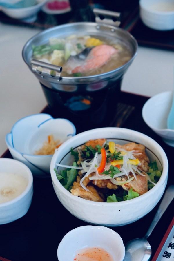 Hotpot lunch at the Okhotsk Bazaar in Hokkaido