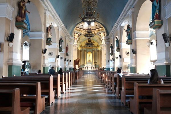 Inside Jaro Cathedral