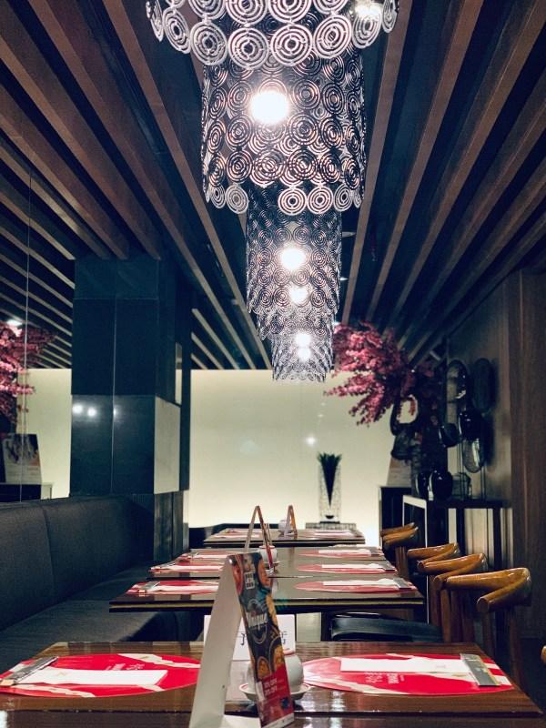 Inside Yanagi Japanese Restaurant