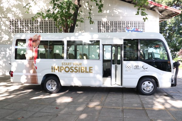 The Toyota Coaster is a 29-seater vehicle that can help in PPC athletes in their transportation – a challenge they constantly face during trainings and competitions.