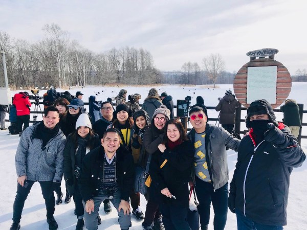 #TeamPhilippines at the crane sanctuary in Hokkaido