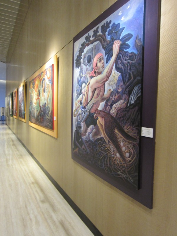 Nemi Miranda paintings at Conrad Manila