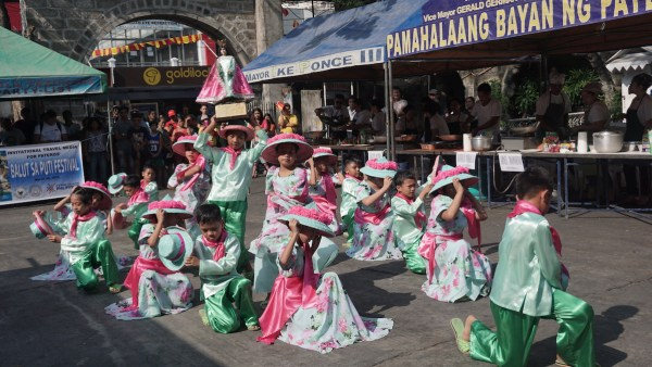 P. Manalo Elementary School students performing pandanggo