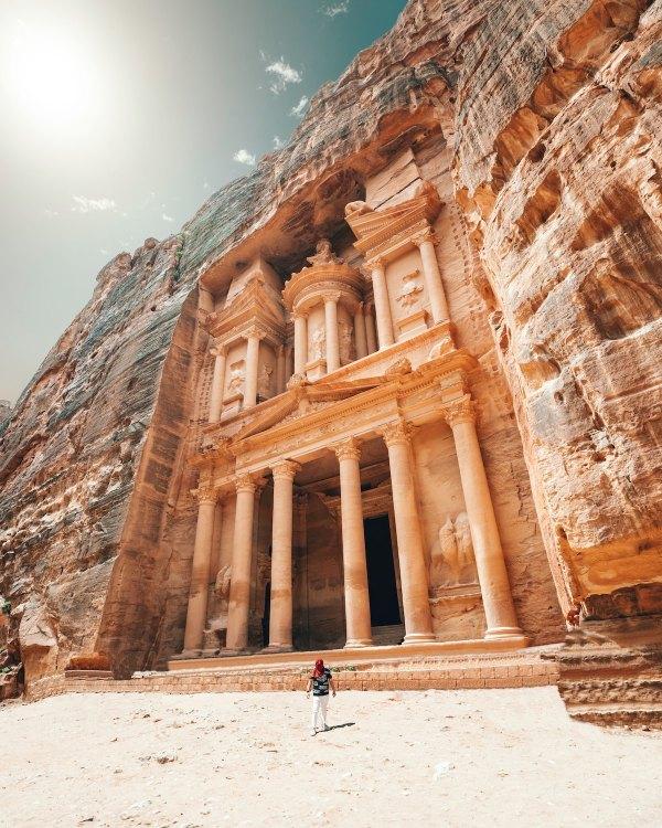 Petra in Jordan photo by Spencer Davis via Unsplash