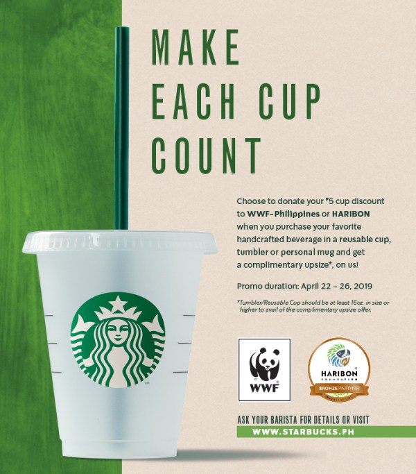 Starbucks Earth Week with WWF and Haribon