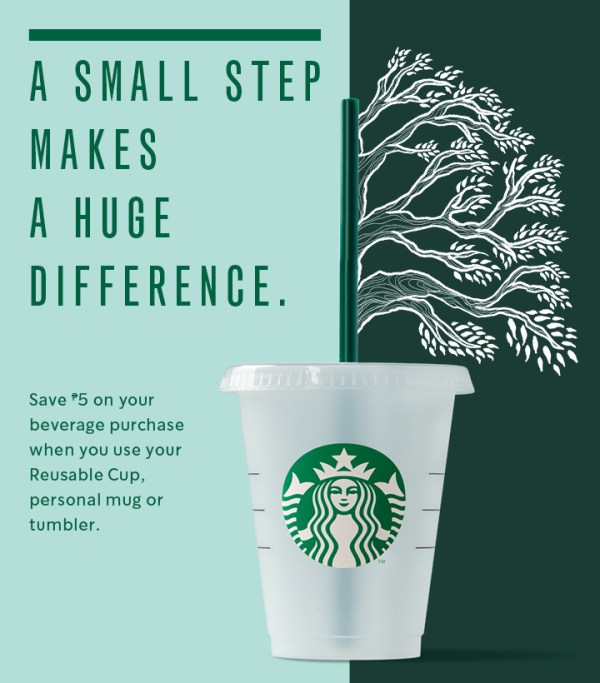 Starbucks Php5 Cup Discount