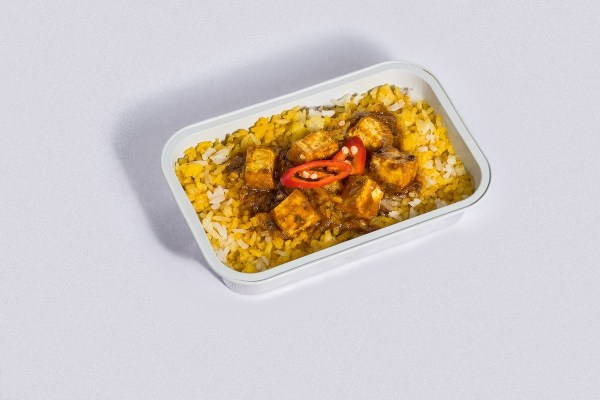 Tofu and Rice Biryani - Taste the flavors of Asia in the comforts of your airline seat