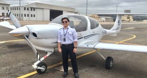 Darryl Dave Ditucalan of Iligan City is one of the first Cebu Pacific Cadet Pilots who underwent training in Adelaide, Australia. He and his fellow cadet pilots are set to return to the Philippines in a few weeks. (Photo courtesy of Dave Ditucalan)
