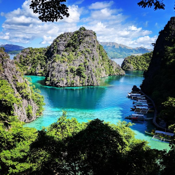 View from Kayangan Lake in Coron Palawan photo by Alana Harris via Unsplash