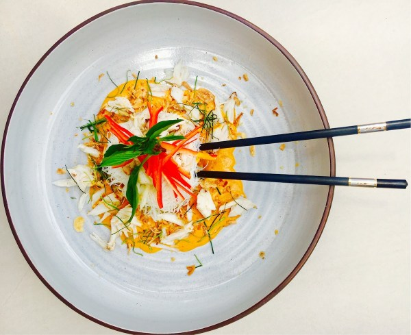 Yellow Crab Curry at The Palm Cuisine Phuket
