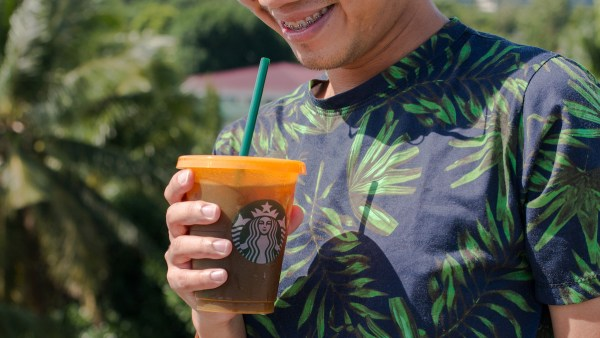 Starbucks Colored Reusable Cup Orange