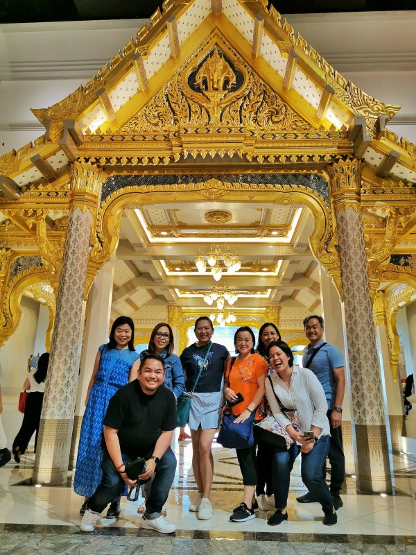 Thailand FamTour participants with representative from Tourism Authority of Thailand