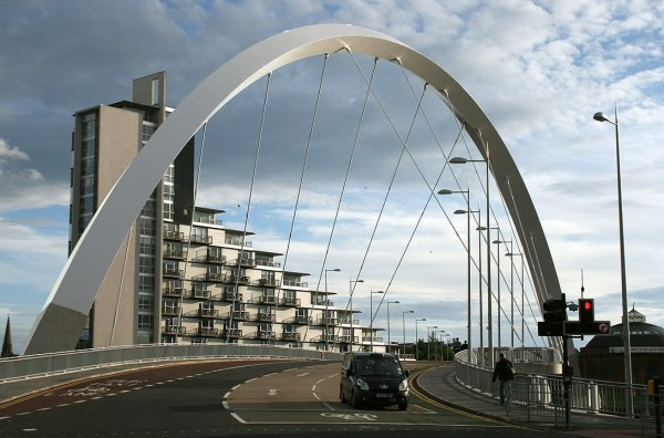 Clyde Arc photo by Myriam Thyes via Wikipedia CC