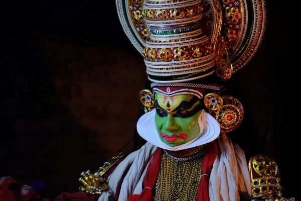 Kathakali performer in Kochi India