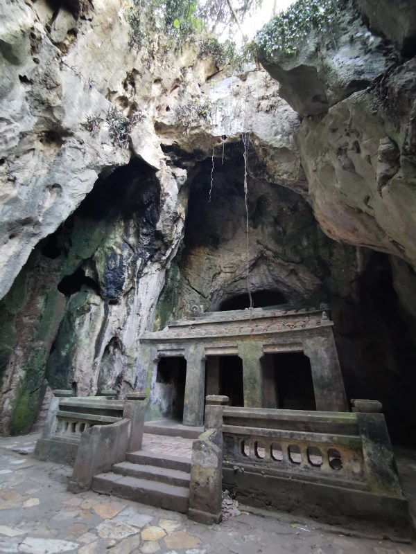 One of the caves in Marble Mountains