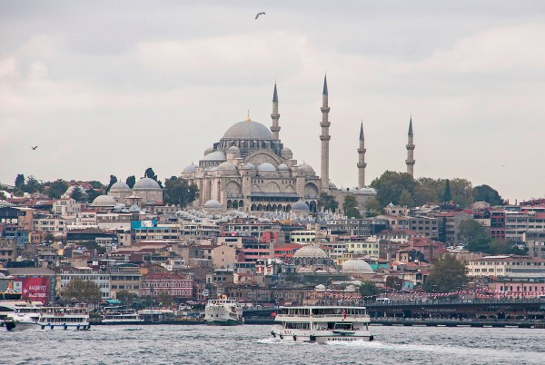 The city's iconic Blue Mosque stands tall over its surroundings. It is called as such because of the blue tiles covering its interior walls.