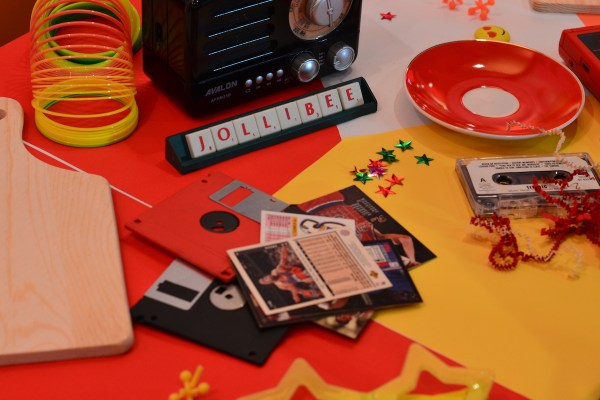 Retro feel at the launch event earlier in Jollibee 100th in BGC, Taguig