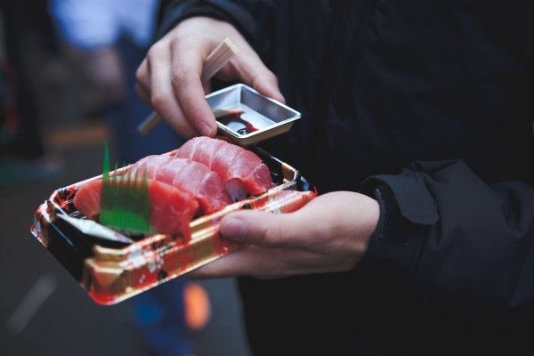 Sashimi at the Tsukiji Market by Jonathan Forage Unsplash