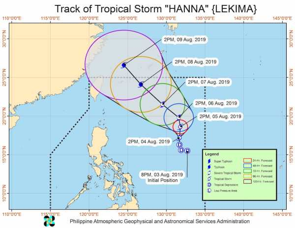 Tropical Depression Hanna - August 5 Weather Updates