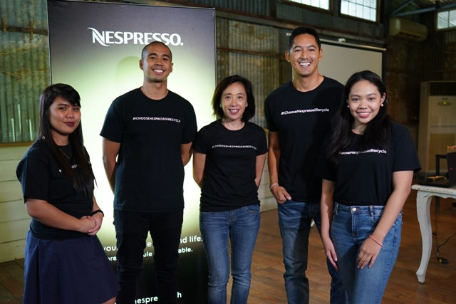 Novateur Coffee Concepts Marketing Specialist Mindy Leonor, Novateur Coffee Concepts Coffee Ambassador JR Abril, Novateur Coffee Concepts Marketing Manager Mia Silva, WWF Philippines National Ambassador and Sustainability Advocate Marc Nelson and Novateur Coffee Concepts Marketing Specialist Patricia Flores.