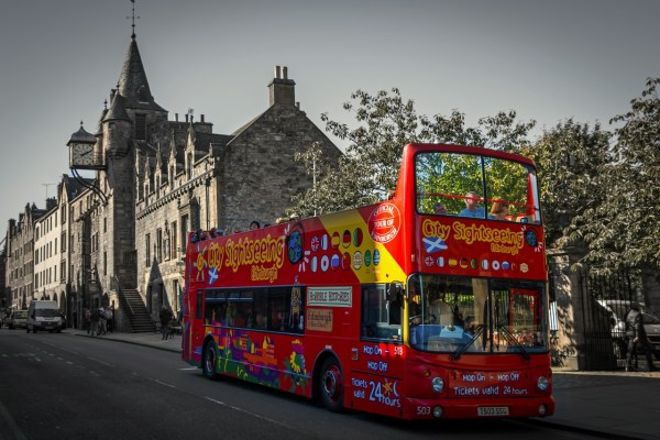 Edinburgh City Sightseeing Tour Bus