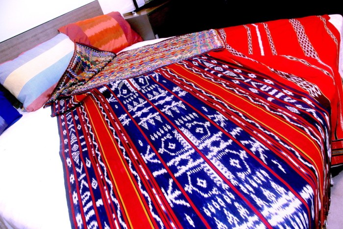 i Bb kain fabric, handwoven and embroidered by Kalinga weavers_ kinuttiyan and innido fabrics, handwoven by Kiangan weavers from Ifugao using 100% cotton in traditional Ifugao ikat patterns
