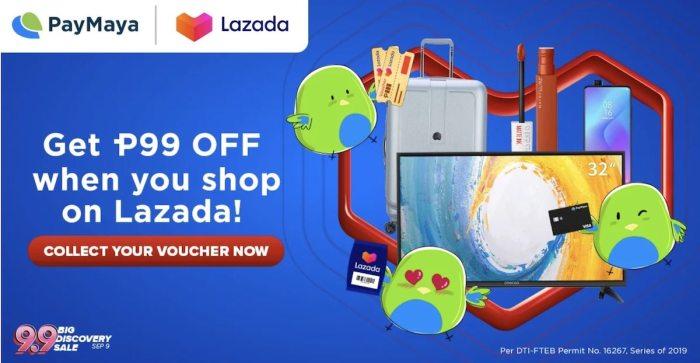 Shop on Lazada using PayMaya and enjoy P99 off
