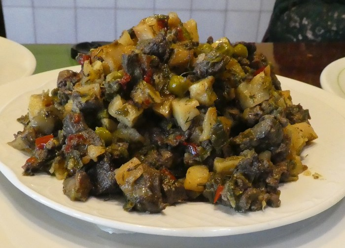 shoulder traditional mallorcan veggie dish