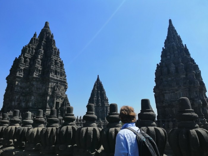 A view from one of the temples in the Prambanan Compound