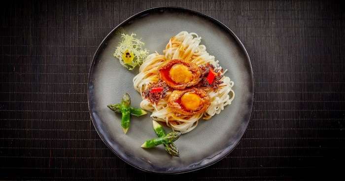 Braised Korean Abalone with Handmade Noodles in XO Sauce
