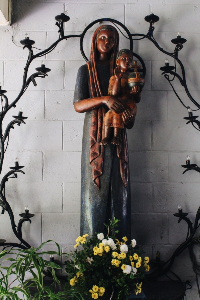 Church of the Angry Christ wooden Virgin Mary