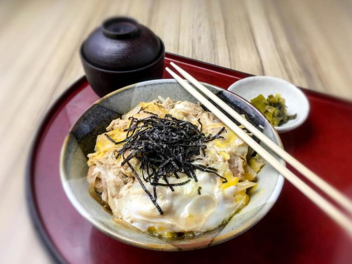 Fowl and game lovers would love Oyako Don, a sumptuous plate of cooked chicken and onion on rice.